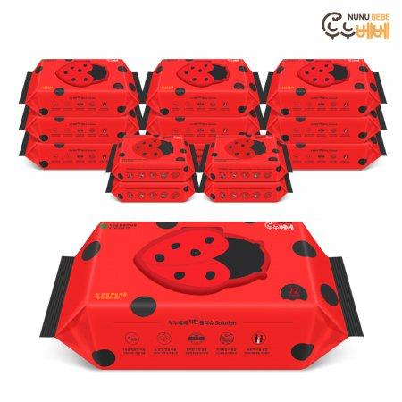 (무료배송) 벅스레드 물티슈 72매 10팩 + 휴대 20매 4팩