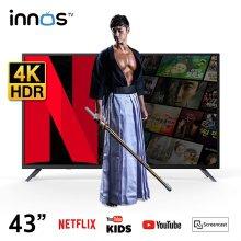 109cm 넷플릭스4K V5.1 스마트 WIFI UHD TV / S4301KU [스탠드형 자가설치]