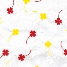 (낱장)한지로 한지 포장지-네잎클로바 9(빨,노)