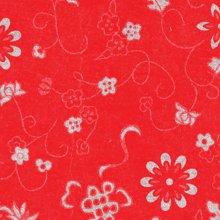 (낱장)한지로 한지 포장지-국화지(은)빨강 8번