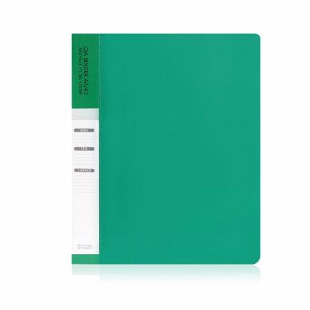 A4 40매 링 클리어화일 녹색(속지추가가능)