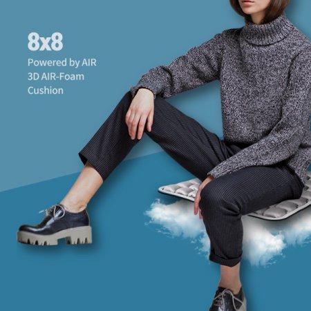 8x8 인체공학 3D입체 엠보싱 바른자세 에어쿠션 방석