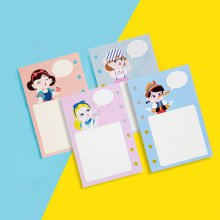 A7 디자인 캐릭터 속지 사탕소녀 - 무지 (50매)
