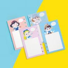 A6 디자인 캐릭터 속지 사탕소녀 - 무지 (50매)