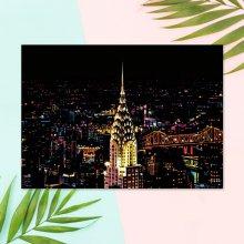 야경 스크래치 카드 컬러링북 DIY(A3)-뉴욕