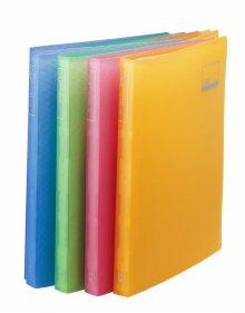 반투명PP클리어화일 40매 (색상랜덤) (62051)