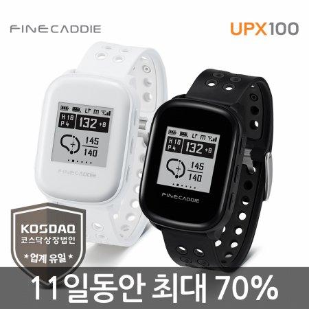 [본사정품] 파인캐디 UPX100 (블랙) 시계형 GPS 골프거리측정기 세계유일 항공 측량 기반 DB로 정확한 고저차 보장