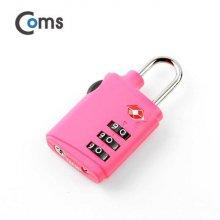 비밀번호 도난방지 자물쇠(TSA) 3 dial 핑크_52A676