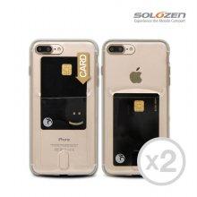 [1+1] 카드 포켓 젤리 투명 케이스 아이폰11