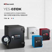 NEW YES-031DK 디지털+키 내화금고/63kg/서랍/선반(블랙)