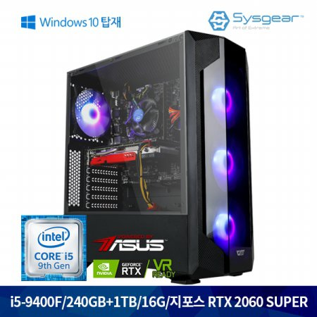GT9462SW i5 9400F+RTX2060SUPER+16G+240G+1TB+윈도우탑재