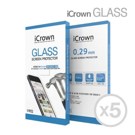 아이크라운 9H 강화유리필름 5매 아이폰 X/XS