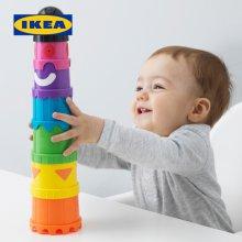 이케아 정품 MULA 쌓기놀이 컵쌓기 장난감 사고능력