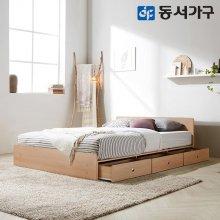 루젠 깊은서랍 퀸 침대 (매트리스포함) DF636027