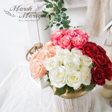 조화 장식 로맨틱 로즈 부쉬_38cm FM408-0277