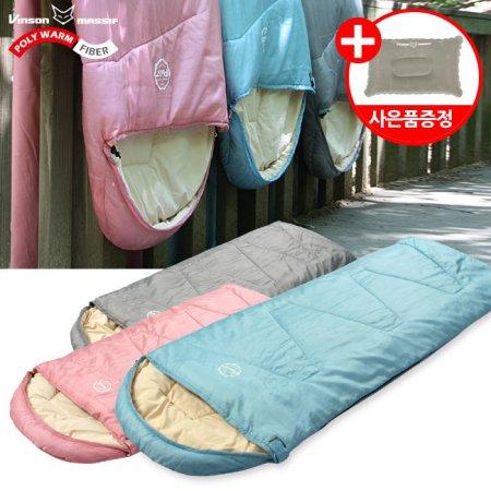 파스텔 침낭(머미형) 감성 캠핑 사계절 디자인침낭