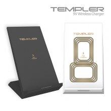 템플러 듀얼코일 9V 고속 무선 충전 거치대(블랙)