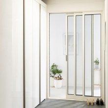 베리어스 3연동중문 1050~1500(-자,오픈형,망입유리)