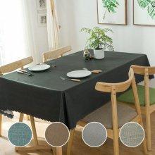 큐디스 방수 식탁보 북유럽 테이블보 4인용