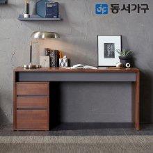 EDFby동서가구 멀바우LPM 1500책상+3단서랍장세트 DF637439
