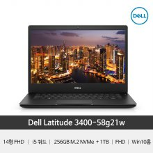 [래티튜드] 3400-58G21W 델노트북/14FHD/가성비/업무용/윈10