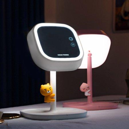 카카오프렌즈 스마트 무선충전 LED 미러 스탠드