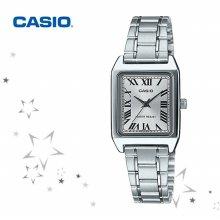카시오 LTP-V007D-7B 여성 스퀘어 메탈 시계