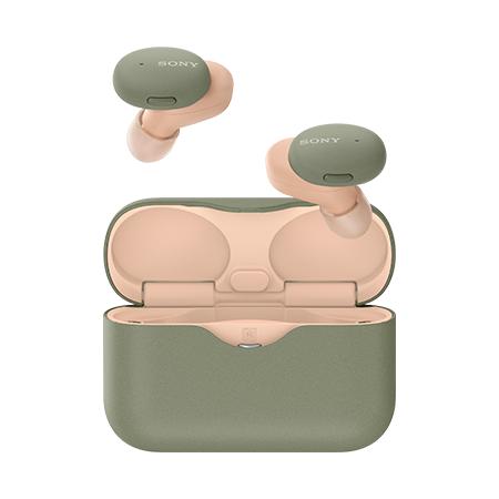 SONY 투톤 컬러 블루투스 이어폰[그린][WF-H800]