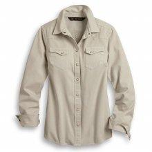 여성 빈티지 로고 긴팔셔츠
