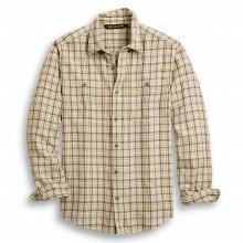 남성 빈티지 로고 플래드 긴팔셔츠