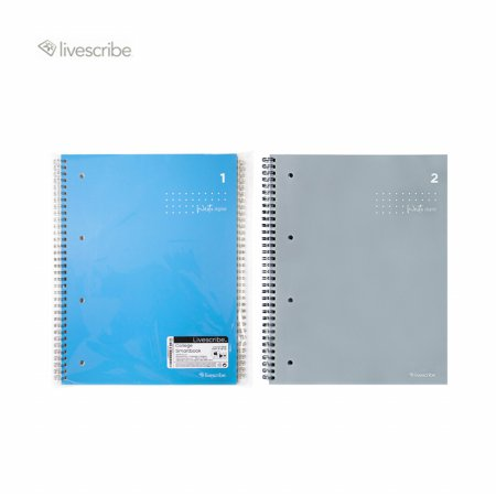 라이브스크라이브 스마트펜 노트 컬리지스마트북 세트 A4 (2권 묶음)