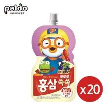 뽀로로 홍삼쏙쏙 포도블루베리100mlX20개