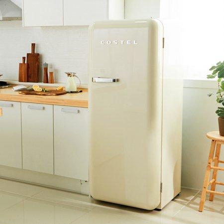 CRS-281HA / 281L 모던 레트로 냉장고 (크림 아이보리)