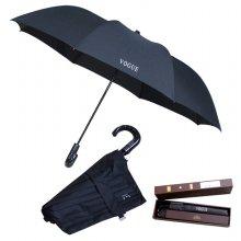 2단 반자동 곡자손잡이 우산