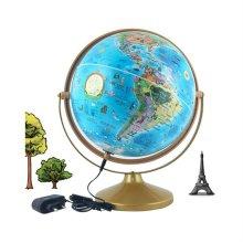 30cm 키즈 별자리 파인 지구본 360도회전 교육용 조명