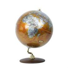 30cm 골드 엘레강스 원목 지구본 중형지구본 인테리어