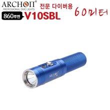 다이버용 LED후레쉬 수중랜턴 V10SBL 60M 해루질