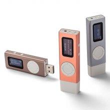 T70 시즌2 16GB (코지브라운) USB일체형 MP3+케이스+필름