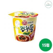 오뚜기 컵누들 매콤한맛 37.8g 15입 1박스
