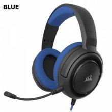 사운드list 커세어 HS35 Stereo 게이밍 헤드셋 블루