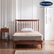 잉글랜더 뉴저지 고무나무 원목 침대(매트제외-SS)