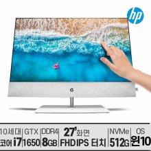 [사은품]HP 파빌리온 27-d0722kr 터치스크린 10세대 i7/윈10/IPS/무선충전
