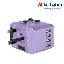 버바팀 여행용 충전기 5.6A 5포트 멀티 플러그 퍼플