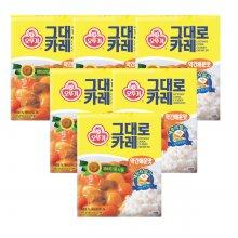 오뚜기그대로카레(약간 매운맛) 200G 6개