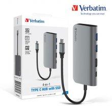 버바팀 4in1 USB-C PD 4K HDMI 맥북 허브 with 120GB SSD