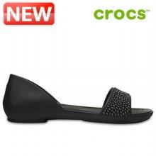 크록스 슬리퍼 /PF- 204361-060 / Womens Crocs Lina Embellished D Orsay Flat