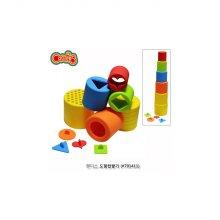 실리콘 도형컵쌓기 도형장난감 교육용 장난감/65D170