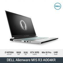 [다운로드 3% 쿠폰] Alienware M15 R3 A004KR [10th i7/16GB/15.6OLED UHD/512G/RTX 2070/WIN10 Pro]