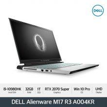 [다운로드 3% 쿠폰] Alienware M17 R3 A004KR[i9-10980HK/4K/32G/1T/RTX2070Super/WIN10Pro]