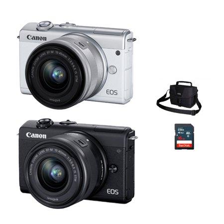 [가방+16G메모리 증정]캐논 EOS-M200 미러리스 카메라 렌즈KIT[본체+15-45mm IS STM]